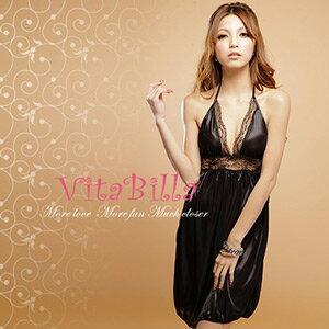【伊莉婷】VitaBilla 魅惑之夜 LUCKMATE 嬌豔美姬 睡裙+小褲 二件組 G002510011 0