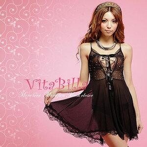 【伊莉婷】VitaBilla 夜色情迷 LUCKMATE 優雅名媛 睡裙+小褲 二件組 G002620014 0