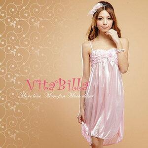 【伊莉婷】VitaBilla 浪漫櫻花 LUCKMATE 冰肌美人 睡裙+小褲 二件組 冰絲性感睡裙 G005510008 0