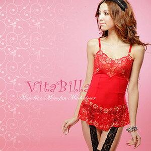 【伊莉婷】VitaBilla 熱情似火 睡裙+小褲 二件組 G007820001 0