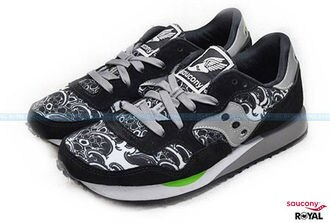 Saucony 新竹皇家 Toshikazu Nozaka 野坂稔和 黑白 麂皮 網布 輕量 慢跑鞋 男款 NO.A7574
