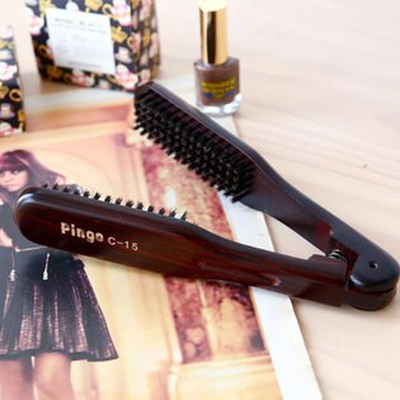 Pingo 品工 C15 黑檀木豬鬃夾梳 直髮梳 離子書 麵包梳 梳子【B061530】