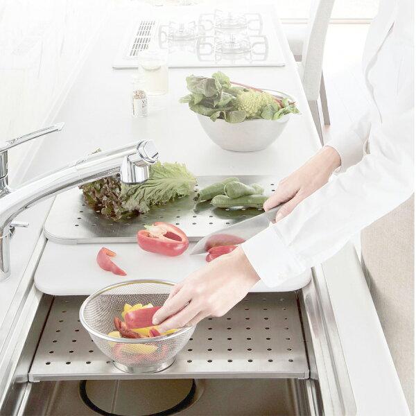 【現貨+預購】日本廚房用水材-一體成型不鏽鋼機能型3D靜音水槽【SUE7641】