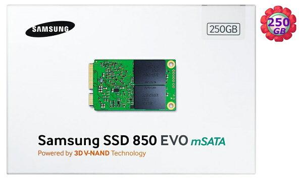 SAMSUNG SSD 850 EVO 250GB 【mSATA】 MZ-M5E250BW SATA6Gb/s 內接式 筆電固態硬碟