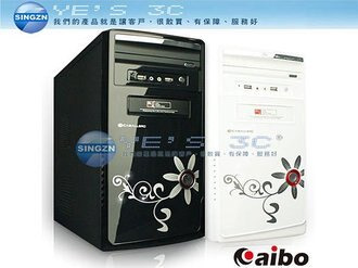 「YEs 3C」aibo 鈞嵐 CB208 晶鑽 迷你系列機殼 / 後置電源/ Micor ATX架構 黑/白 USB2.0