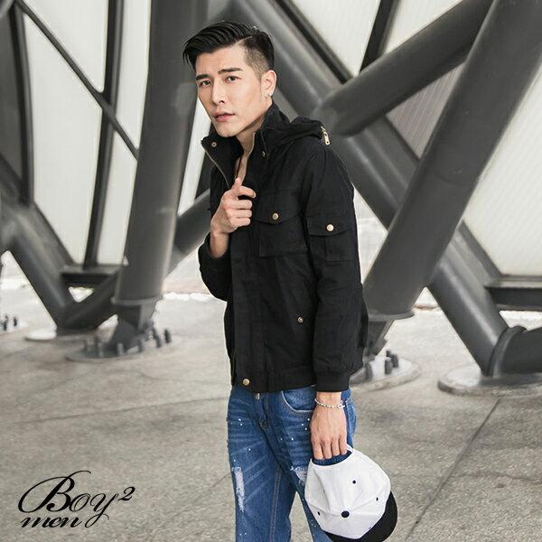☆BOY-2☆【PPK88019】保暖立領多口袋軍裝外套 3