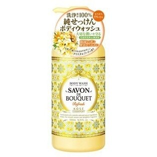 日本【KOSE】SAVON DE BOUQET 甜美花香沐浴乳-500ml