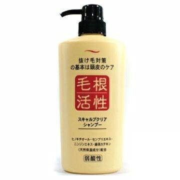 【JUN-COSMETIC】日本原裝 毛根活性X健康頭皮洗髮精 550ml /純藥株式會社 天然保濕 弱酸性