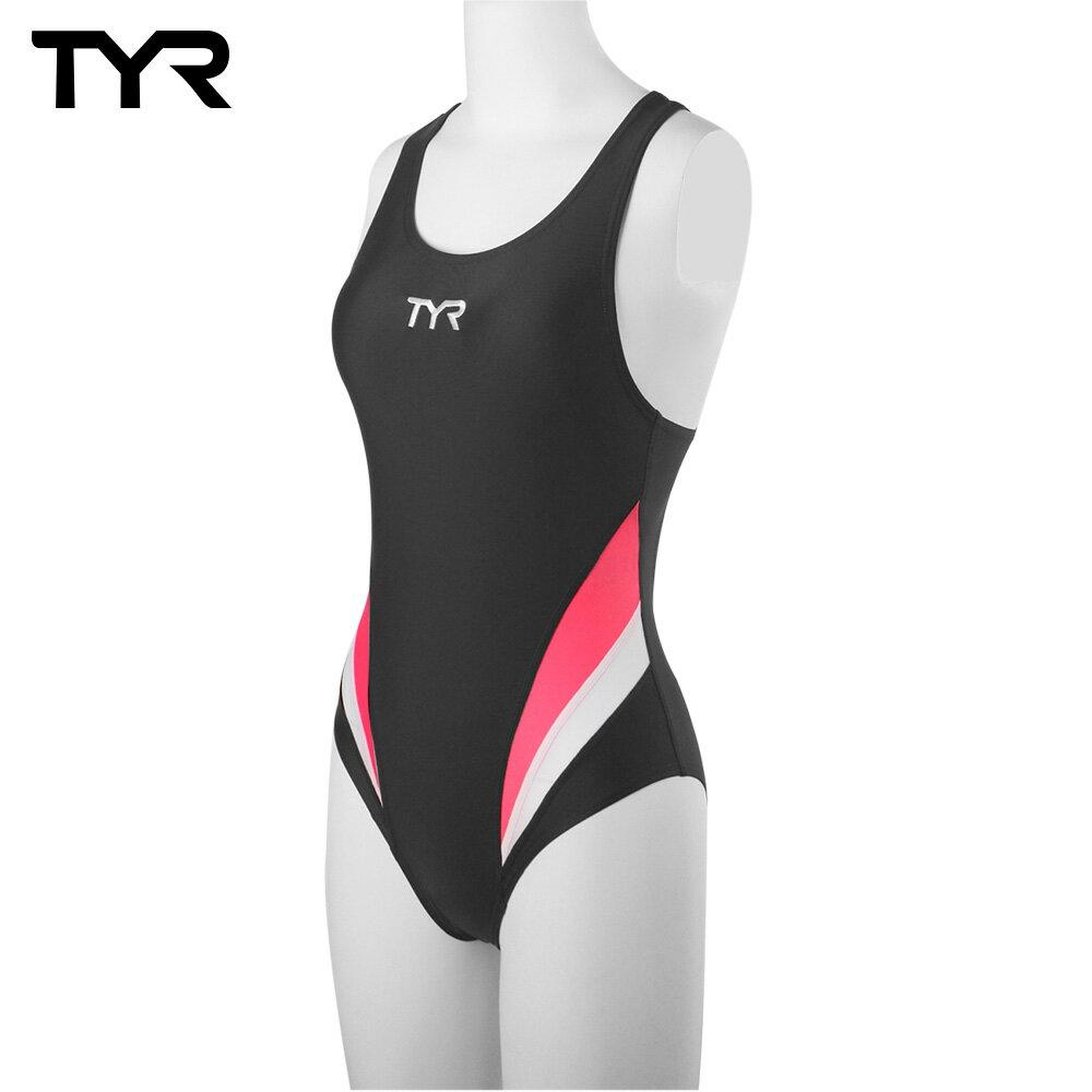 美國TYR女用修身款泳裝Delora Aeroback Gray 台灣總代理 - 限時優惠好康折扣