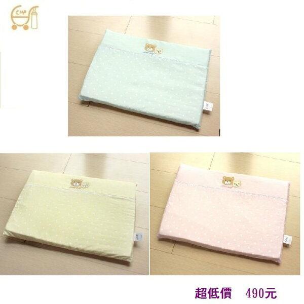 *美馨兒*東京西川 GMP Baby-雙熊繡花乳膠平枕(附枕套) 490元