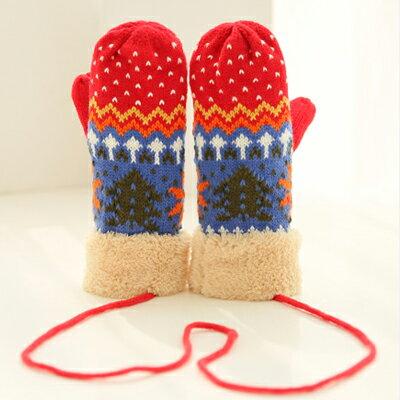 手套   保暖手套  針織手套  毛線手套   耶誕配色手套【C1059】 艾咪E舖   情侶配件 1
