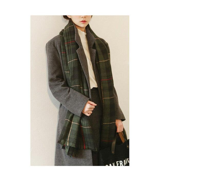 西裝大衣 素色雙排釦加厚羊毛呢中長款大衣外套 艾爾莎【TAA1194】 1