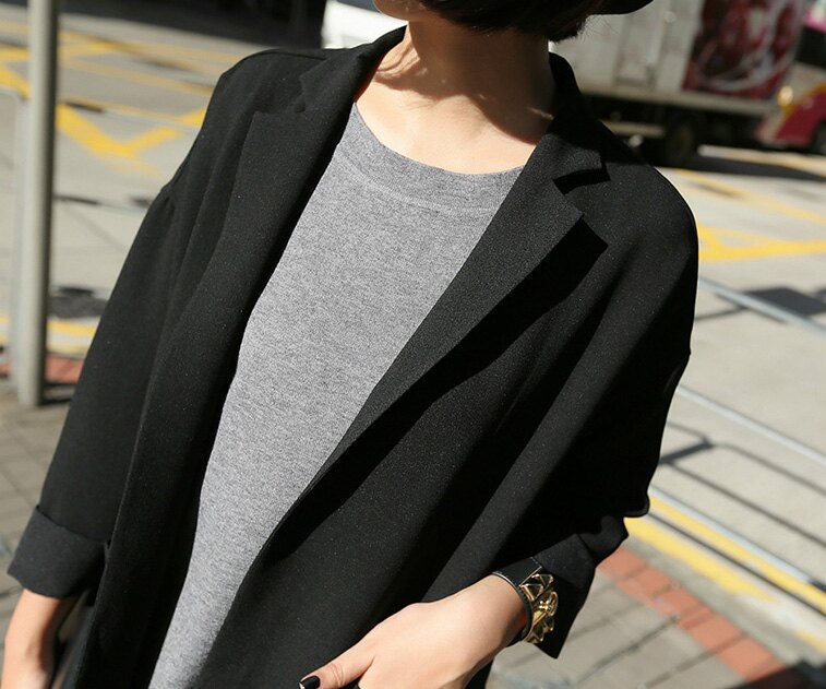 長大衣風衣罩衫 復古落肩袖長版西裝大衣外套 艾爾莎【TAE2539】 1