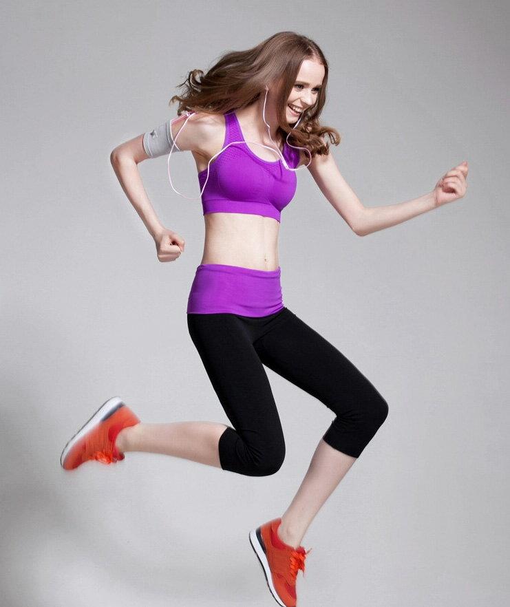 有氧韻律瑜珈服 舒適透氣高腰彈力緊身運動健身七分褲 艾爾莎【TAE3318】 2