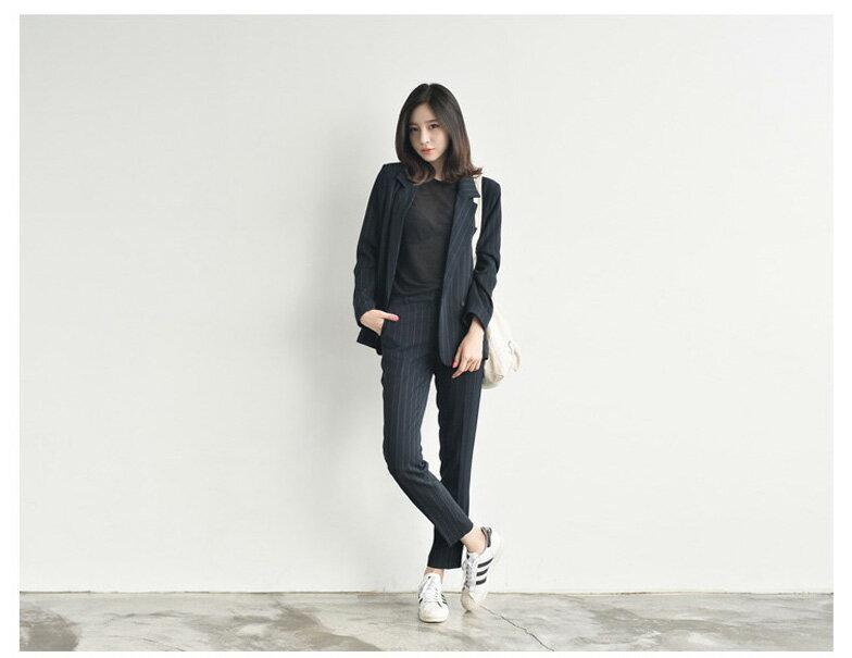 韓國連線西裝外套秋裝 時尚OL俐落幹練西裝外套 艾爾莎【TAK3950】 1