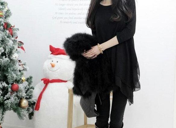 長袖上衣 寬鬆甜美漸層顯長不規則下擺長連身裙 艾爾莎【TAN5265】 1