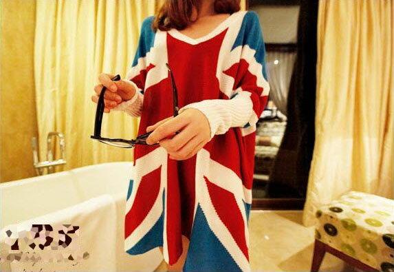 長袖針織衫 大蝙蝠袖英式風格羅紋束口寬鬆毛衣針織 艾爾莎【TAR4268】 1