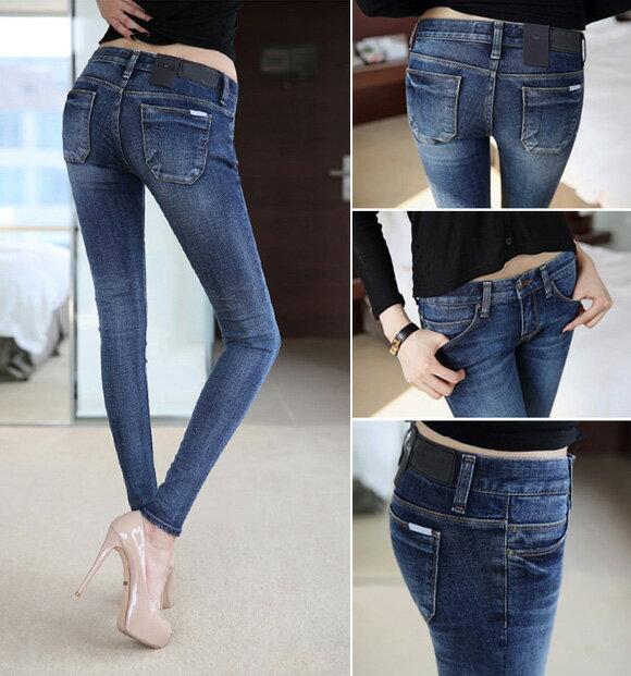 鉛筆褲窄管褲 完美曲線修身包臀顯瘦牛仔長褲 艾爾莎【TAW2023】 1