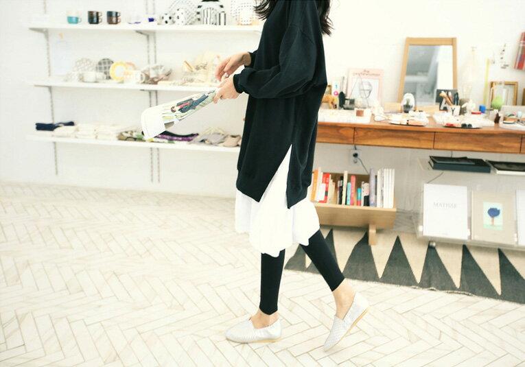 洋裝 甜美寬鬆撞色拼接假兩件連身裙 艾爾莎【TGK0127】 2