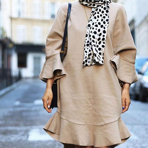 長袖洋裝 艾爾莎 寬鬆魚尾荷葉邊喇叭長袖連身裙【TGK4076】 1
