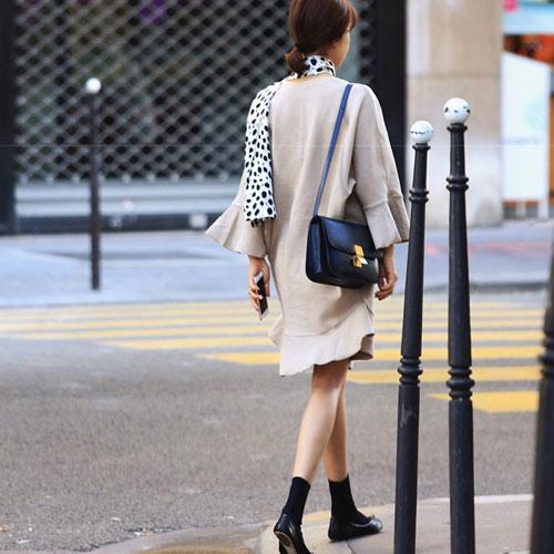 長袖洋裝 艾爾莎 寬鬆魚尾荷葉邊喇叭長袖連身裙【TGK4076】 2
