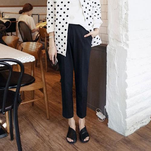 西裝褲 艾爾莎 時尚魅力高腰修身直筒九分西裝褲【TGK4092】 1