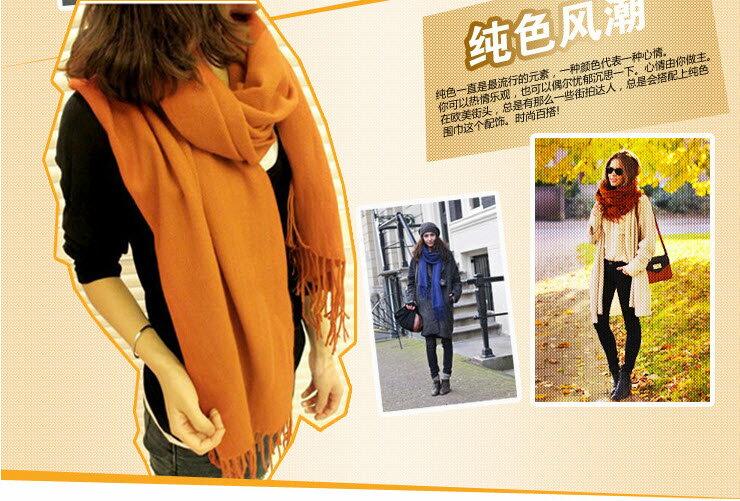 圍巾披肩電毯毯子被子 艾爾莎 多功能純色格子保暖頭巾大披肩毛料圍巾 【TOY2109】 1