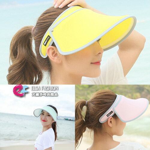 遮陽帽抗UV美白 炎夏群星同款必備防曬遮陽沙灘帽 艾爾莎【TOY2262】