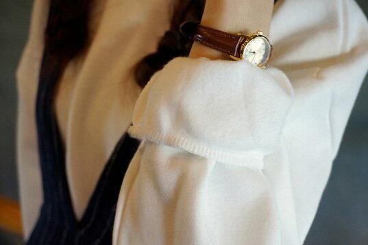 圓領T恤 舒適素面多色小立領加厚圓領長袖上衣 艾爾莎【TQK0044】 2