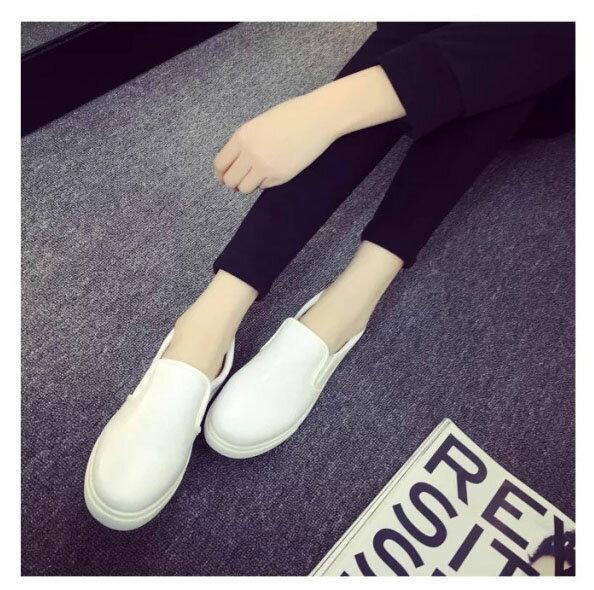 樂福鞋豆豆鞋 休閒好搭厚底懶人鞋平底鞋 艾爾莎【TSB8608】 1