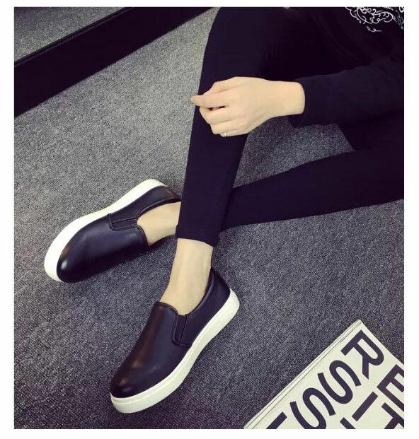 樂福鞋豆豆鞋 休閒好搭厚底懶人鞋平底鞋 艾爾莎【TSB8608】 2