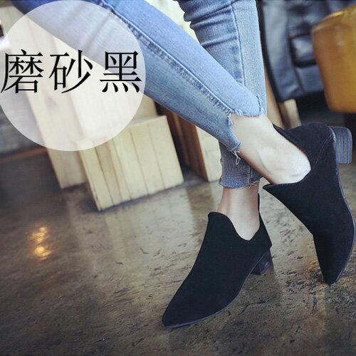 靴子 歐美風格時尚潮流鏤空尖頭美靴 艾爾莎【TSB8673】 2