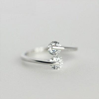 925純銀戒指鑲鑽開口戒~品味優雅眾人焦點七夕情人節 女飾品73dt155~ ~~米蘭 ~