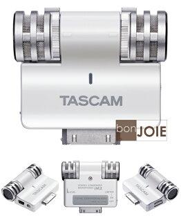 ::bonJOIE:: 全新盒裝 TASCAM iM2 專業型 電容式 立體聲麥克風 (白色) iPhone iPod iPad 專用