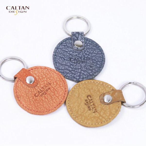 牛皮/鑰匙圈【CALTAN】普普風小圓真皮革鑰匙圈-2089系列