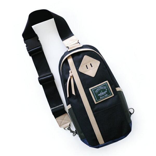 REMATCH - Matchwood Hunter 撞色單肩後背包 黑色款 斜背包 側背包 隨身包 胸前包 基本防水 / 運動 / 輕便 / 美式休閒 / 單車Fixed gear / Dickies / Porter / master-piece 可參考