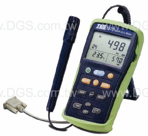 二氧化碳偵測器紀錄式含溫濕度計Digital NDIR CO2 /Thermo-Hygrometer