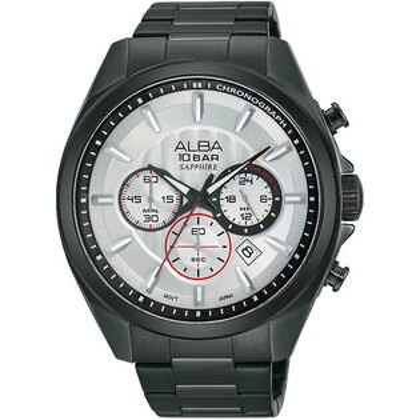 ALBA VD53-X219SD(AT3829X1)炫黑瞬動計時腕錶/黑面45mm