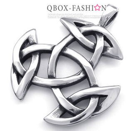 《 QBOX 》FASHION 飾品【W10022450】精緻個性神秘能量符號鑄造316L鈦鋼墬子項鍊