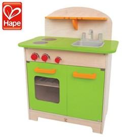 Baby Joy World-【德國Hape educo愛傑卡角色扮演廚房系列】-大型廚具台(綠)