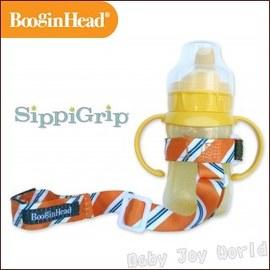 玩具水杯防掉落帶-Baby Joy World-美國BooginHead玩具水杯零食杯防掉落綁帶 萬用多功能防掉落帶-橙色領帶斜條紋