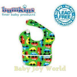 圍兜口水巾-美國Bumkins Super Bib透氣防水防臭兒童圍兜口水巾-【3個月~2歲適用(無袖)】-彩色汽車(S227)