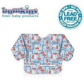 Baby Joy World圍兜口水巾美國Bumkins Sleeved Bib透氣防水防臭兒童圍兜口水巾【6M-2歲適用(長袖)】消防車(SU897)
