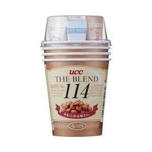 UCC隨身杯咖啡 114咖啡-4杯入  (黑咖啡x4+鮮奶油粉x4+糖x4+攪拌棒x4+紙杯x4)