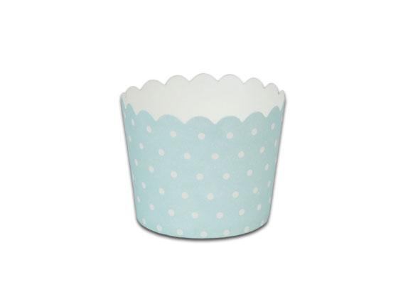 瑪芬杯、杯子蛋糕、烘烤紙杯 MF5040-05 藍底圓點(50pcs/包)