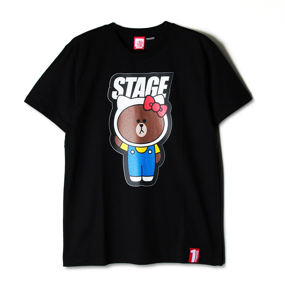STAGE x HELLO FRIENDS 聯名限定 STAGE HELLO BROWN TEE 2