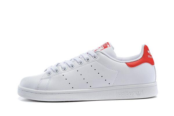 Adidas Originals stan smith 男女情侶鞋 (白紅36-44)