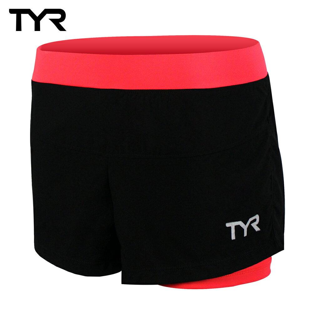 美國TYR 女款透氣排汗短褲 Ladies Running Short Peach 台灣總代理 0