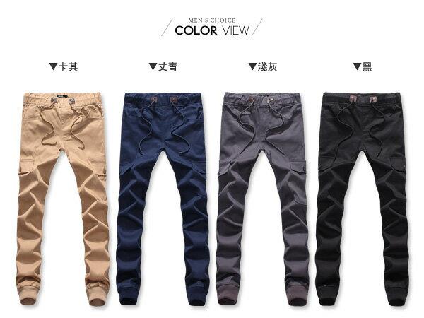 ☆BOY-2☆【PPK85025】束口褲 VEST電繡I休閒口袋長褲縮口褲 1