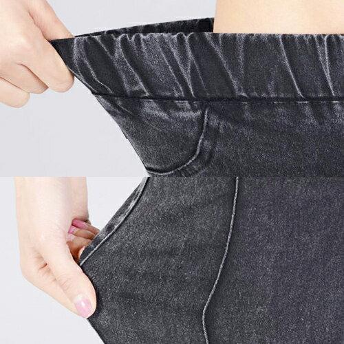 牛仔長褲 - 鬆緊腰立體直條彈力窄管牛仔褲【23293】藍色巴黎 《M~XL》現貨+預購 1